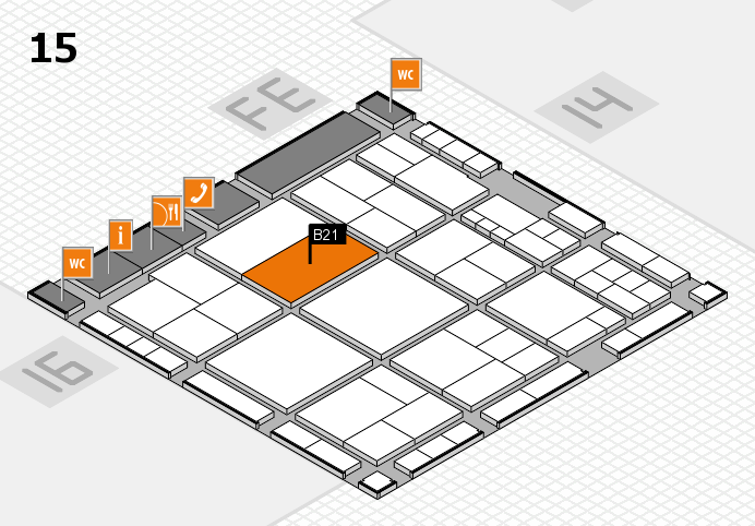 interpack 2017 hall map (Hall 15): stand B21