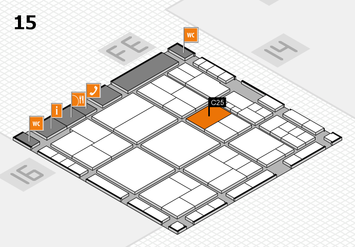 interpack 2017 hall map (Hall 15): stand C25