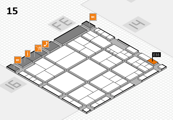 interpack 2017 hall map (Hall 15): stand E55