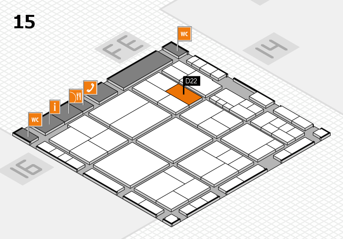 interpack 2017 hall map (Hall 15): stand D22