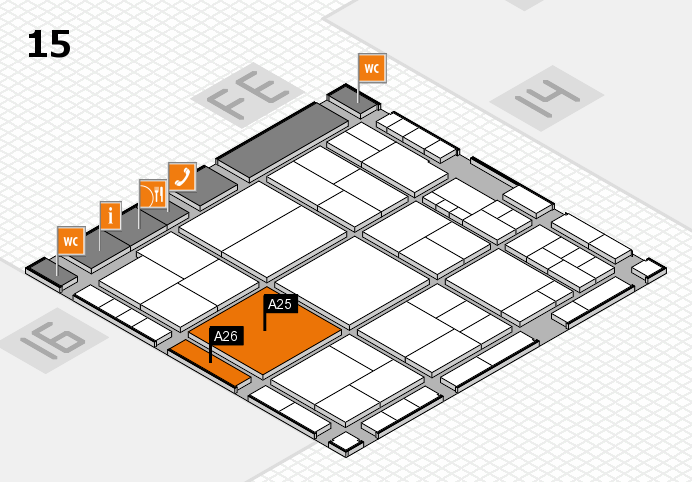 interpack 2017 Hallenplan (Halle 15): Stand A25, Stand A26