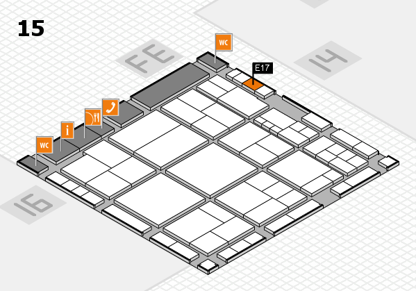 interpack 2017 hall map (Hall 15): stand E17