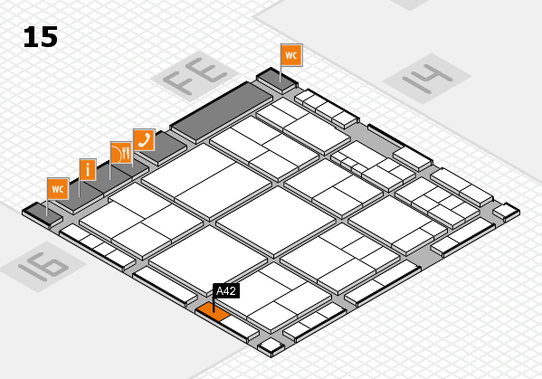 interpack 2017 hall map (Hall 15): stand A42