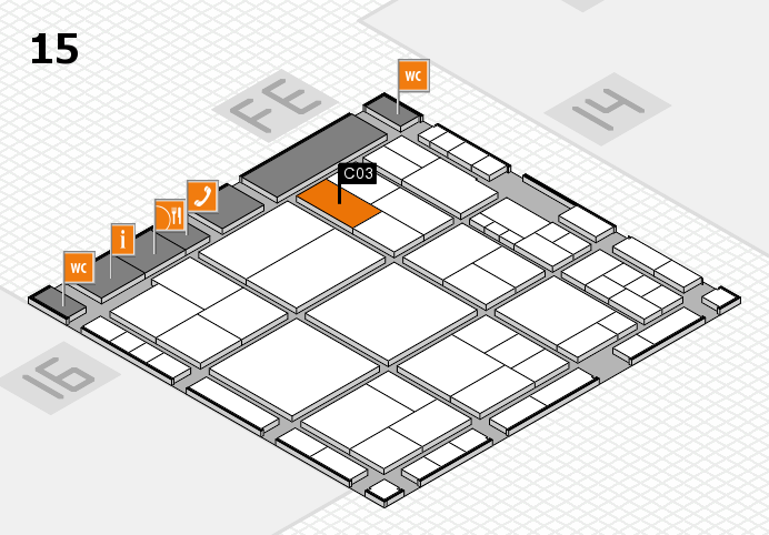 interpack 2017 hall map (Hall 15): stand C03