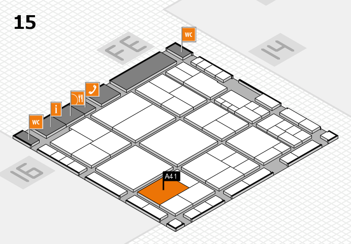 interpack 2017 hall map (Hall 15): stand A41