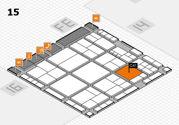 interpack 2017 hall map (Hall 15): stand C41