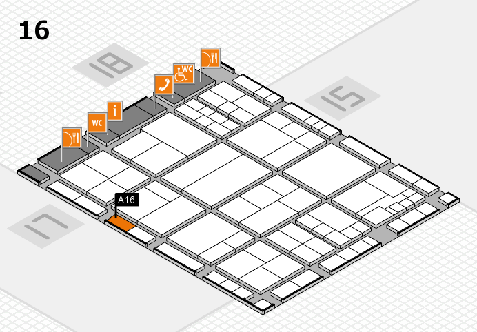 interpack 2017 hall map (Hall 16): stand A16