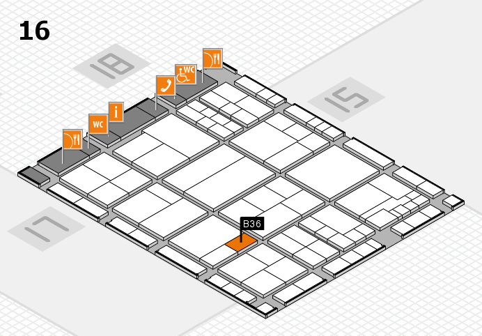 interpack 2017 hall map (Hall 16): stand B36