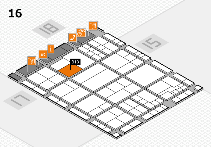 interpack 2017 hall map (Hall 16): stand B13