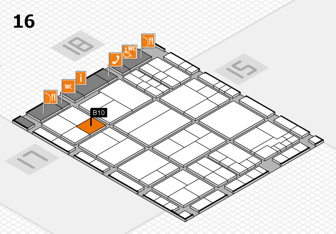 interpack 2017 hall map (Hall 16): stand B10
