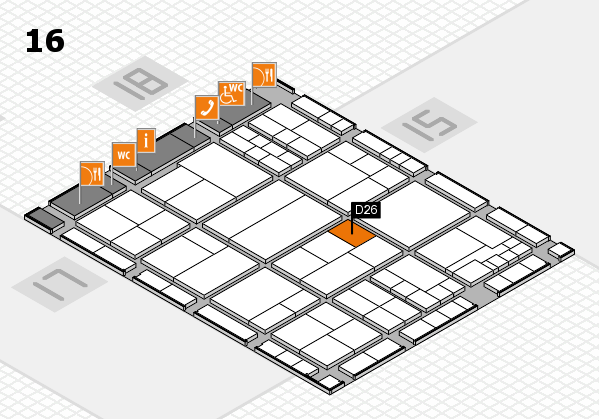 interpack 2017 hall map (Hall 16): stand D26