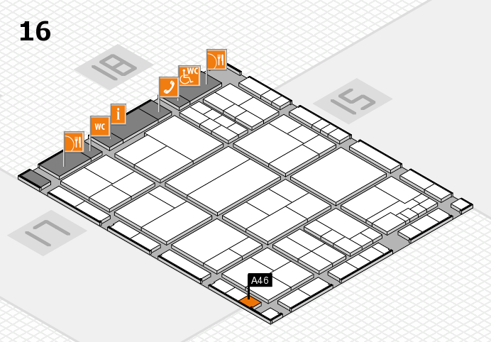 interpack 2017 hall map (Hall 16): stand A46