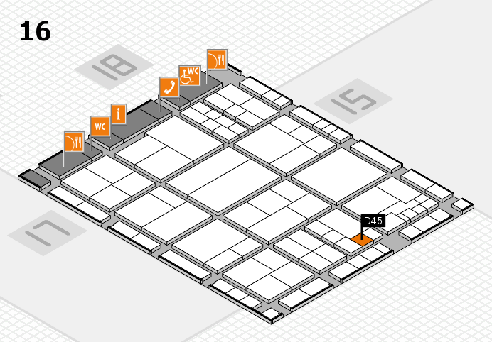 interpack 2017 hall map (Hall 16): stand D45