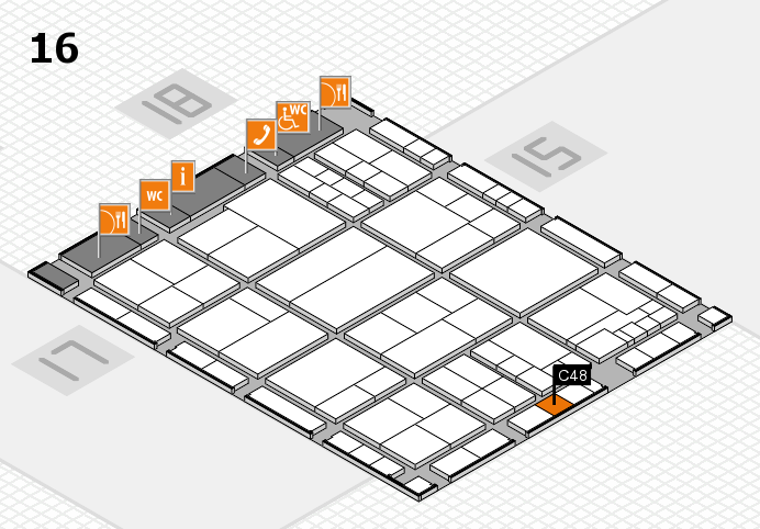 interpack 2017 hall map (Hall 16): stand C48