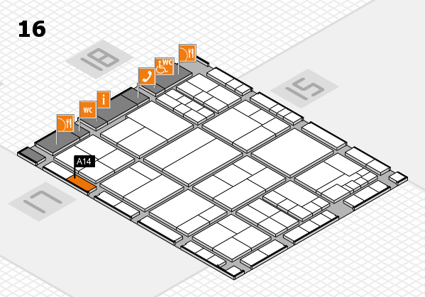interpack 2017 hall map (Hall 16): stand A14