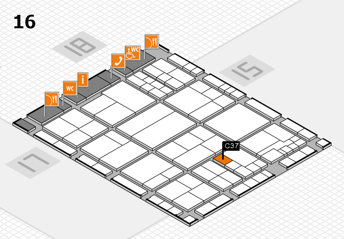 interpack 2017 hall map (Hall 16): stand C37