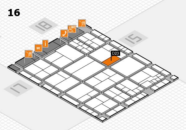 interpack 2017 hall map (Hall 16): stand D23