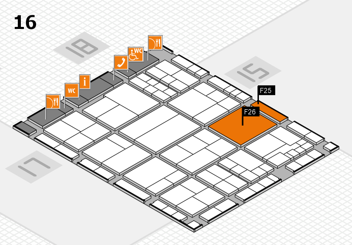 interpack 2017 hall map (Hall 16): stand F25, stand F26