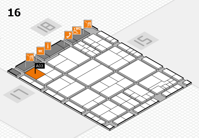 interpack 2017 hall map (Hall 16): stand A03