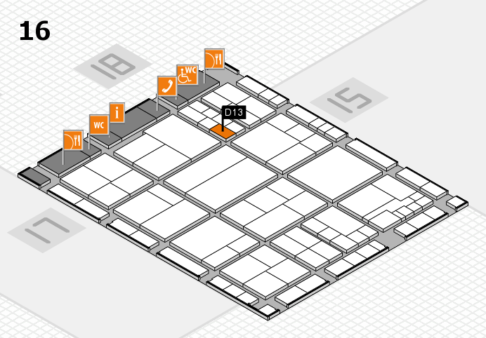 interpack 2017 hall map (Hall 16): stand D13