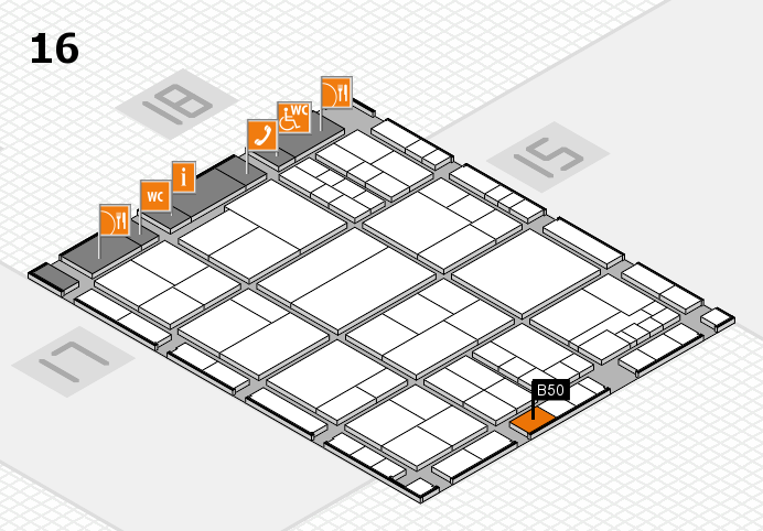 interpack 2017 hall map (Hall 16): stand B50
