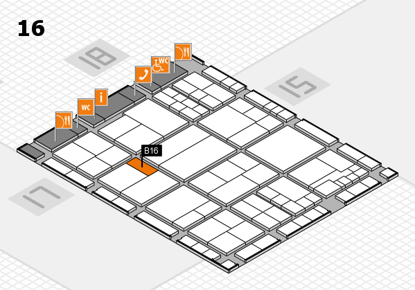 interpack 2017 hall map (Hall 16): stand B16