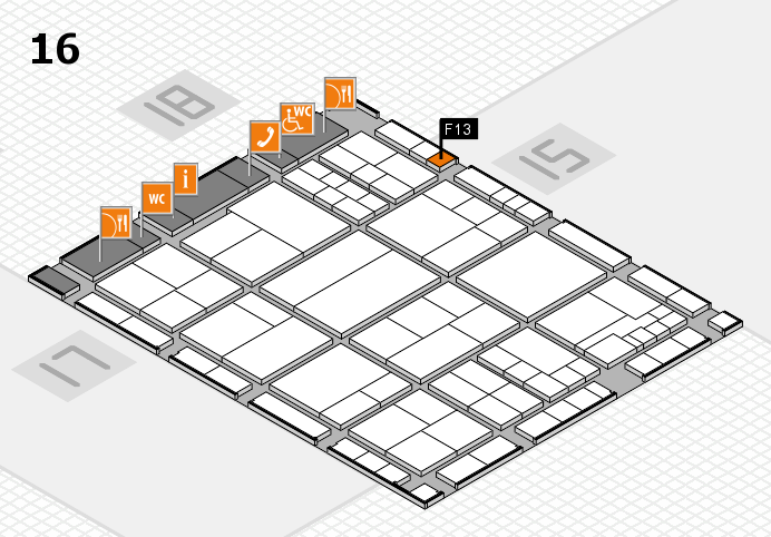 interpack 2017 hall map (Hall 16): stand F13