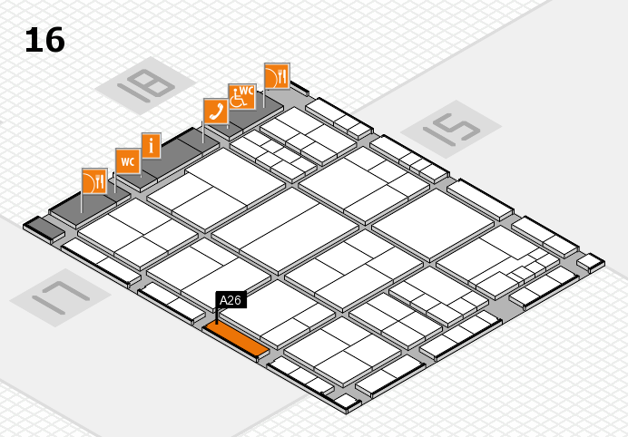 interpack 2017 hall map (Hall 16): stand A26