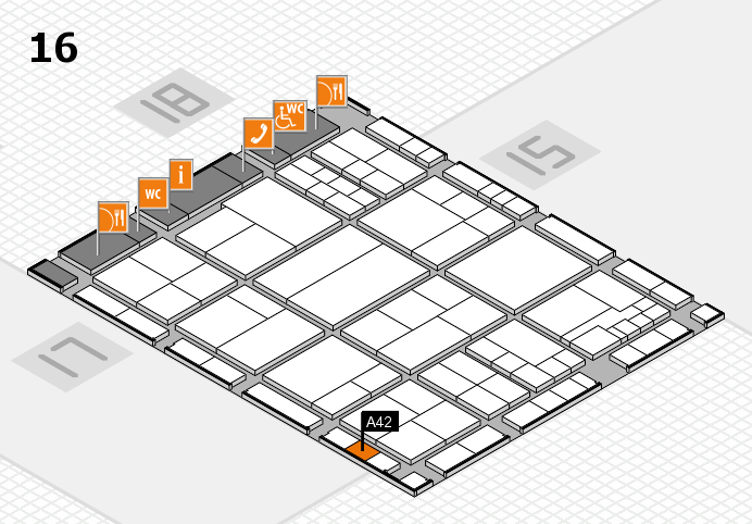 interpack 2017 hall map (Hall 16): stand A42