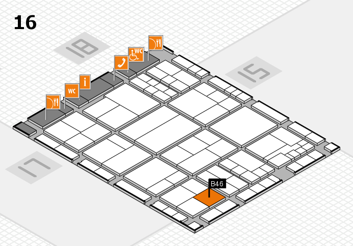 interpack 2017 hall map (Hall 16): stand B46