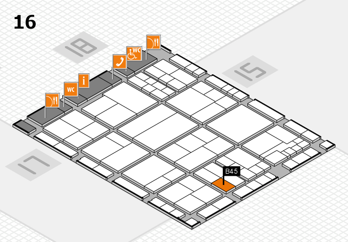 interpack 2017 hall map (Hall 16): stand B45