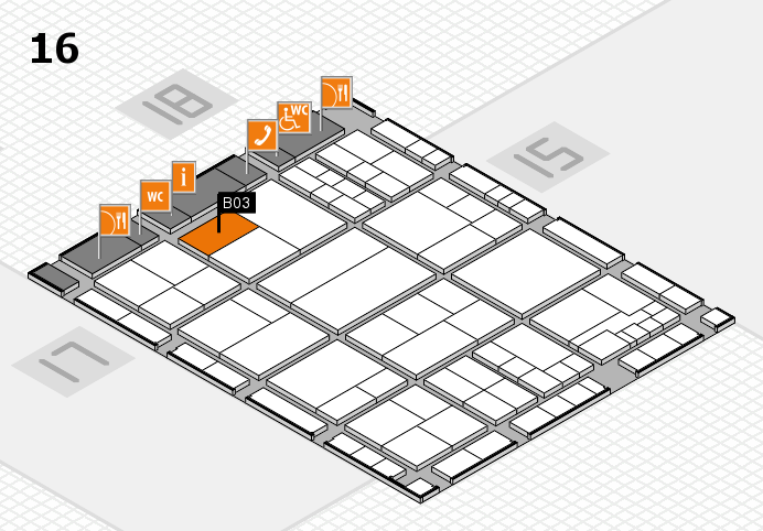 interpack 2017 hall map (Hall 16): stand B03