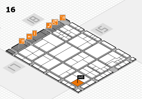 interpack 2017 hall map (Hall 16): stand A45