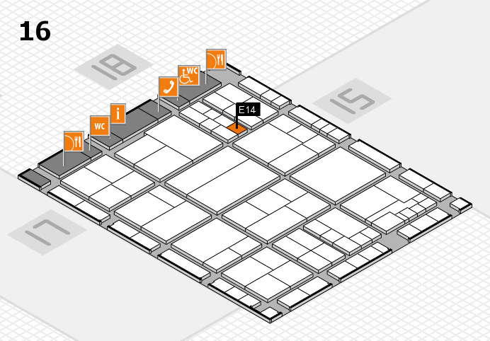 interpack 2017 hall map (Hall 16): stand E14
