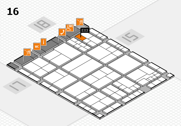 interpack 2017 hall map (Hall 16): stand E03