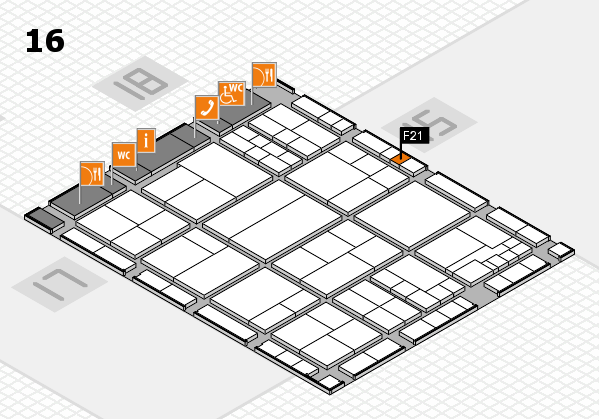 interpack 2017 hall map (Hall 16): stand F21