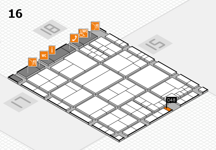 interpack 2017 hall map (Hall 16): stand D48