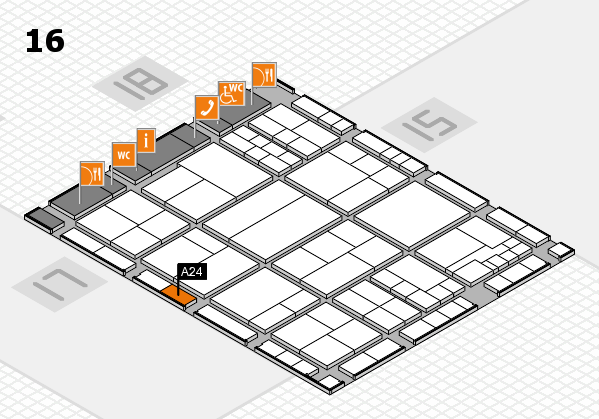 interpack 2017 hall map (Hall 16): stand A24