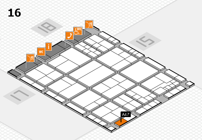interpack 2017 hall map (Hall 16): stand A47