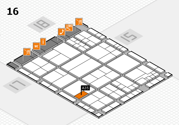 interpack 2017 hall map (Hall 16): stand A35