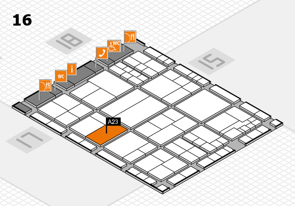 interpack 2017 hall map (Hall 16): stand A23
