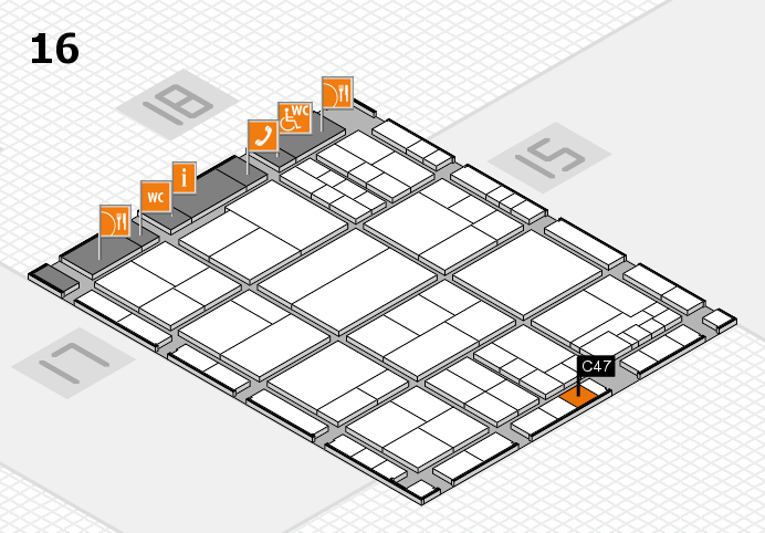 interpack 2017 hall map (Hall 16): stand C47