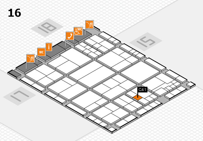 interpack 2017 hall map (Hall 16): stand C41