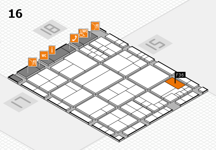 interpack 2017 hall map (Hall 16): stand F36