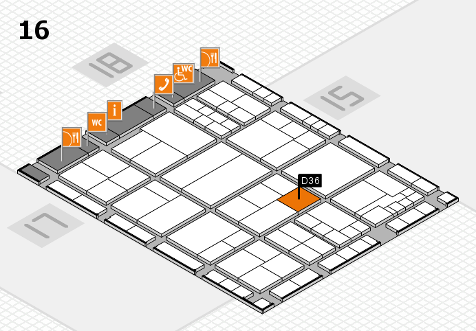 interpack 2017 hall map (Hall 16): stand D36