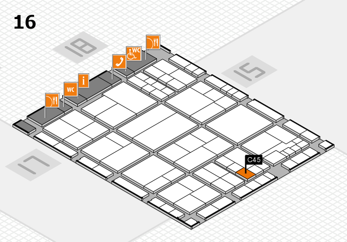 interpack 2017 hall map (Hall 16): stand C45