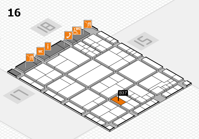 interpack 2017 hall map (Hall 16): stand B37