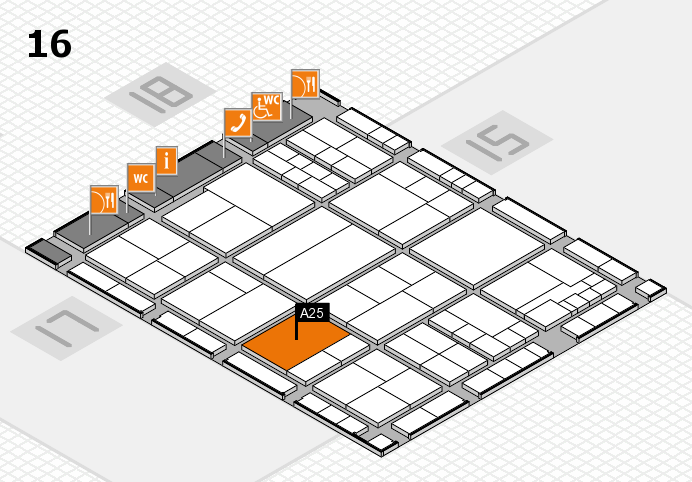 interpack 2017 hall map (Hall 16): stand A25
