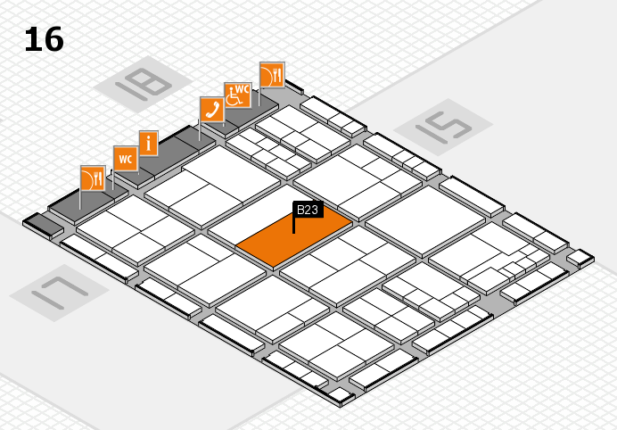 interpack 2017 hall map (Hall 16): stand B23