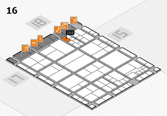 interpack 2017 hall map (Hall 16): stand D03